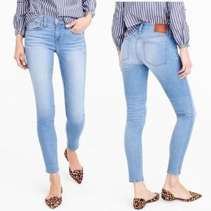 """J. Crew 8"""" Toothpick Skinny Jeans in Chimney Wash"""